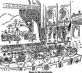 National Irrigation Congress - 1893 session of National Irrigation Congress in Los Angeles Opera House