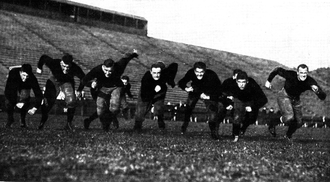 "1919 Michigan Wolverines football team - 1919 players from 1920 Michiganensian with captions, ""Lookout Ahead!"""