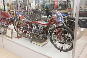 Burt Munro - Munro's Indian on display in Invercargill