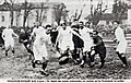 1934 (11 mars) Stade Toulousain (sombre) et RC Toulon (clair) déclarés co-vainqueurs du Challenge Yves du Manoir à Lyon (score 0-0).jpg