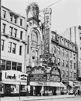 Boston Opera House (1980) - Tremont Street entrance of RKO Keith's Memorial Theatre (1938)