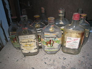 Schenley Industries - Some old Schenley bourbon whiskey bottles from the 1940s