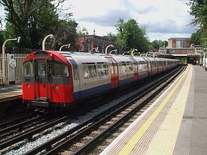 Piccadilly line - Piccadilly line train at Eastcote station