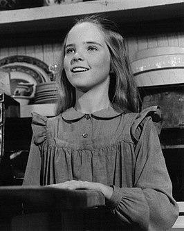 Anderson tijdens opnamen van Little House on the Prairie op 11 december 1974.