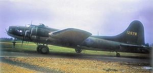 RAF Polebrook - Boeing B-17E Fortress Serial 41-2578.  This aircraft was the oldest and longest serving B-17 in the Eighth Air Force.   While with the 97th Bomb Group on  17 August 1942, this was the lead aircraft in the first Eighth Air Force heavy bombing mission.  Later, this aircraft was used for training combat replacement crews with the 11th Combat Crew Replacement Unit at RAF Bovingdon until 1945.