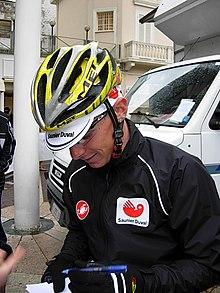 Riccò nella prima semitappa della Settimana Internazionale di Coppi e Bartali 2007 (Riccione > Riccione), giungerà al secondo posto nella classifica generale