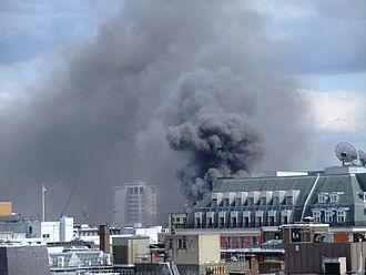 Dean Street - Dean Street fire on 10 July 2009