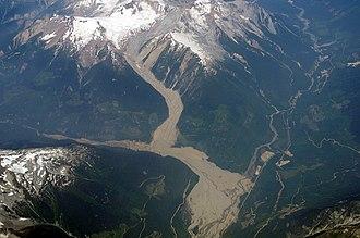 2010 Mount Meager landslide - The 2010 Mount Meager landslide in 2014
