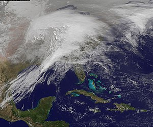 2010–11 North American winter - A crippling blizzard affects the United States on the afternoon of February 1