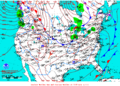 2012-01-29 Surface Weather Map NOAA.png