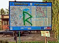 2012 Powiat cieszyński, Strumień, Mapa szlaków rowerowych.jpg