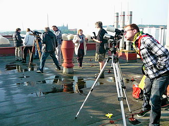 Venus in culture - Rooftop observers of the 2012 Venus transit, in Prague, Czech Republic