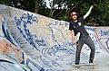 2014-06-22 2er Skatebording e.V., Fössestraße in Hannover-Linden, (03) auch der Vereinsvorsitzende Daniel May hat Spaß.JPG