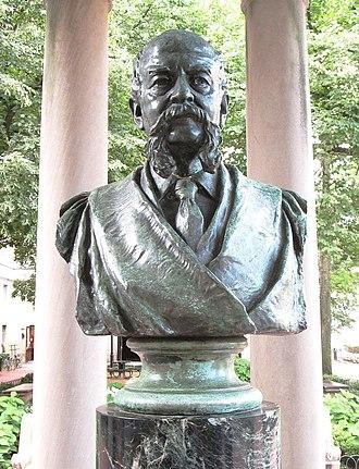 John Howard Van Amringe (sculpture) - The bust in 2014