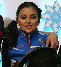 2014 ISU Junior Grand Prix Final Lina Fedorova Maxim Miroshkin Vladislav Zhovnirski IMG 2180 (cropped) - Fedorova.JPG