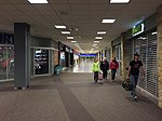 2015-04-13 23 43 21 View towards the International Terminal and Concourse D from the inner end of Concourse C in Salt Lake City International Airport, Utah.jpg