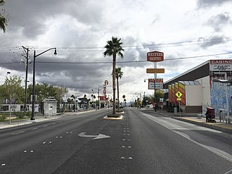 Nevada State Route 582 - View at the current north end of SR 582 looking southbound