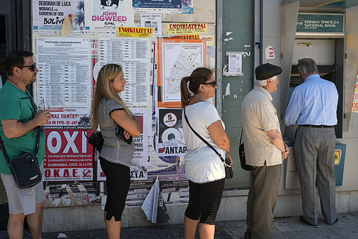 20150705 bank queue National Bank of Greece Galatsi Athens