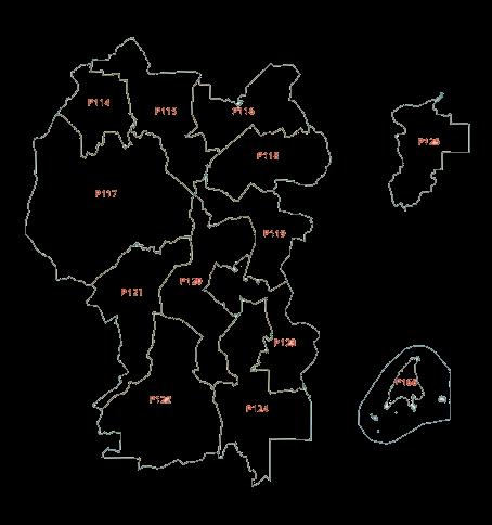 2018年联邦直辖区选区地图