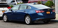 2019 Chevrolet Malibu (facelift) LT, rear 10.19.19.jpg