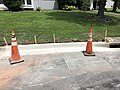 2021-07-14 12 49 05 A section of curb replaced within the prior 24 hours along Tranquility Court in the Franklin Farm section of Oak Hill, Fairfax County, Virginia.jpg