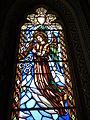208 Santuari de la Misericòrdia (Canet de Mar), cambril de la marededéu, vitrall.JPG