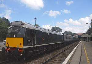 Spa Valley Railway - British Railways Class 25 D5185 and train are seen at Eridge on the Spa Valley Railway