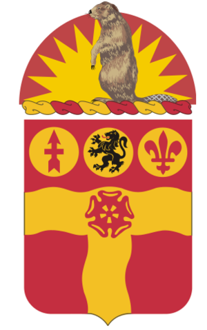 218th Field Artillery Regiment (United States) - Coat of arms