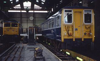 British Rail Class 140 - Image: 24.07.82 Landore MPD 47135, 140.001 (5931456849)