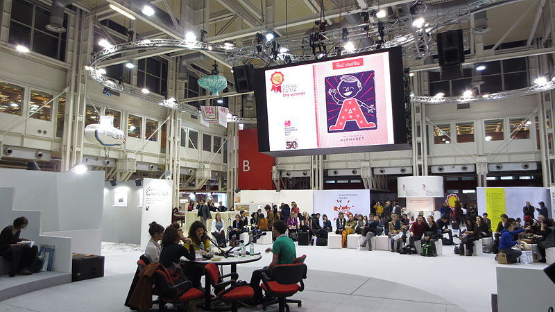 File:27th March 2013 - Illustrator´s Café at the 50th Bologna Children´s Book Fair, picture 2.JPG