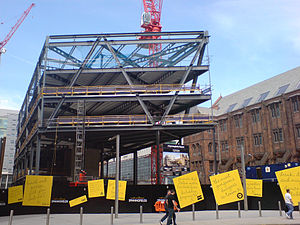 1 The Avenue - Image: 2 Spinningfields Square construction