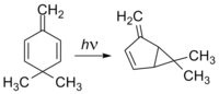 3,3-dimethyl-6-methylenecyclohexa-1,4-diene di-p-methane rearrangement.png
