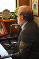 30-07-2009 Diputado Enrique Accorsi Opazo en su oficina, sentado de medio lado..JPG
