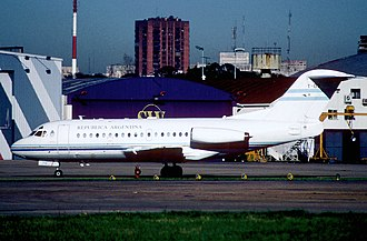 Fokker F28 Fellowship - Argentine Air Force F-28 T-03 of the Presidential Flight, Aeroparque Jorge Newbery, 2004