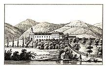 Schloß Wildhaus, 1830 lithograph by J. F. Kaiser (Source: Wikimedia)
