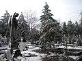 35. Bucuresti, Romania. Din Ciclul BUCURESTIUL SUB ASEDIUL FRIGULUI, Ianuarie 2019. Cimitirul Bellu Catolic. (Peisaj trist).jpg