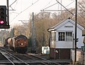 3S60 Stowmarket-Clacton RHTT with 37 604 leading approaches Ingatestone level crossing - 15904715131.jpg