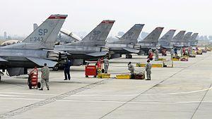 480th Fighter Squadron - Squadron F-16C Fighting Falcons in Bulgaria in October 2010.