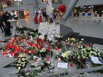 Germanwings Flight 9525 - Memorial at Düsseldorf Airport
