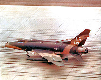 37th Training Wing - 612th TFS F-100D 53-3513 taxiing on the parking apron