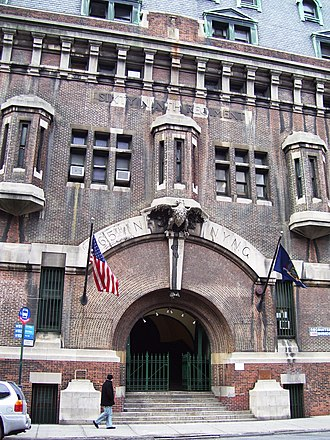 69th Regiment Armory - The entrance to the building