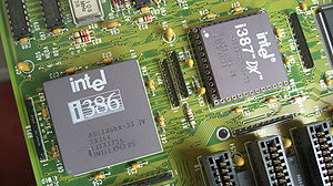 Coprocessor - Intel 80386DX CPU with 80387DX Math Coprocessor