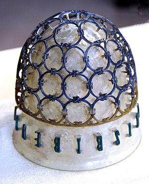 Cage cup - The Coppa diatreta Trivulzio in Milan, seen upside down
