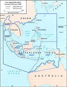 AmericanBritishDutchAustralian Command Wikipedia - Map asia us uk australia
