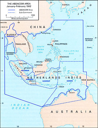 American-British-Dutch-Australian Command - ABDACOM Area