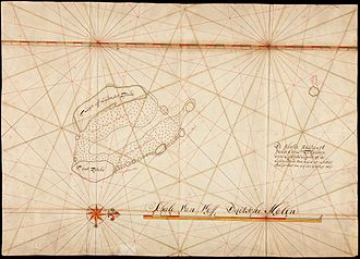 Cocos (Keeling) Islands - Image: AMH 5134 NA Compass chart of the Kokos islands