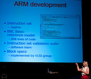 Sophie Wilson - Image: ARM development