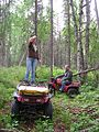 ATVs in the woods, Alaska 2010.jpg