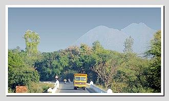 Balaram Ambaji Wildlife Sanctuary - Image: A View Of Peaks On The Way To Ambaji