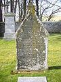 A 19th century gravestone in Rhynie old cemetery - geograph.org.uk - 1238014.jpg